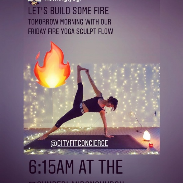 Ready for another firey FREE yoga sculpt class?!?!