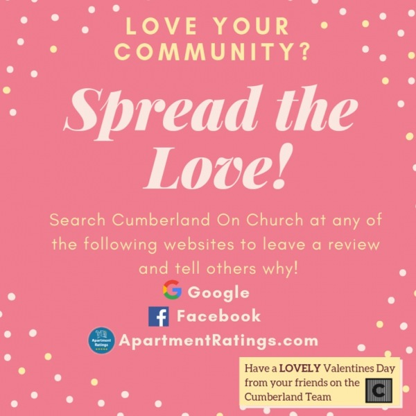 We LOVE hearing from you! In light of the day of love, tell us why YOU love the Cumberland!