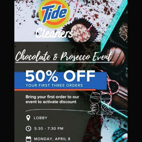 Tonight is the night! Join us from 5:30-7:30 for Chocolate & Prosecco and amazing savings courtesy of @tidecleaners ! . . . #Nashville #Greystar #CumberlandOnChurch  #WineNight #tidedrycleaners #ChocolateAndProsecco #SoutheastBeastMode #HappyHour #Luxury #ApartmentLiving #ApartmentLife #Downtown